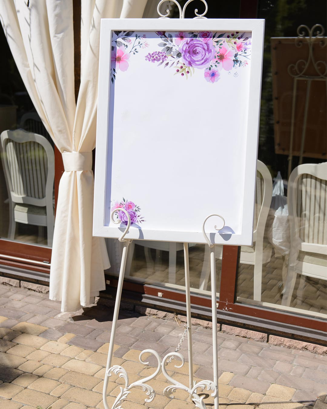 lilac wedding colors setting chart floral decor