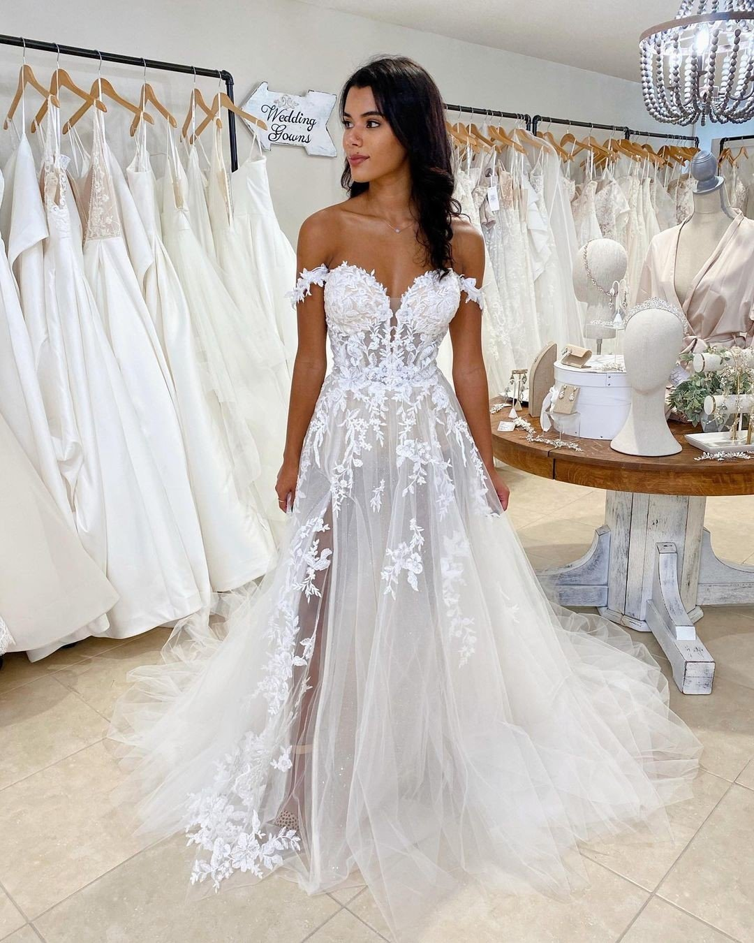 best wedding dresses a line off the shoulder lace beach enzoani