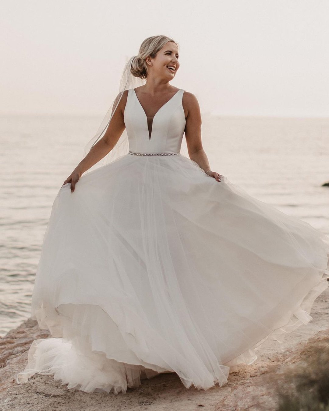 best wedding dresses a line simple country beach stella york