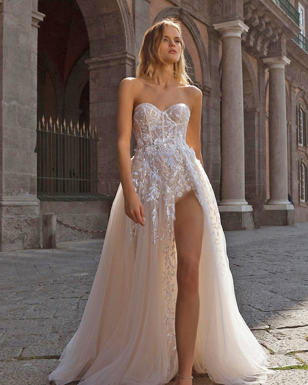 best wedding dresses a line strapless sweetheart neckline beach berta