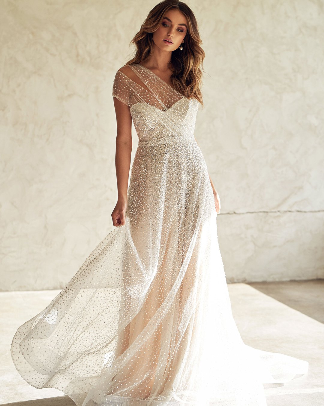 best wedding dresses a line sweetheart neckline sequins anna campbell