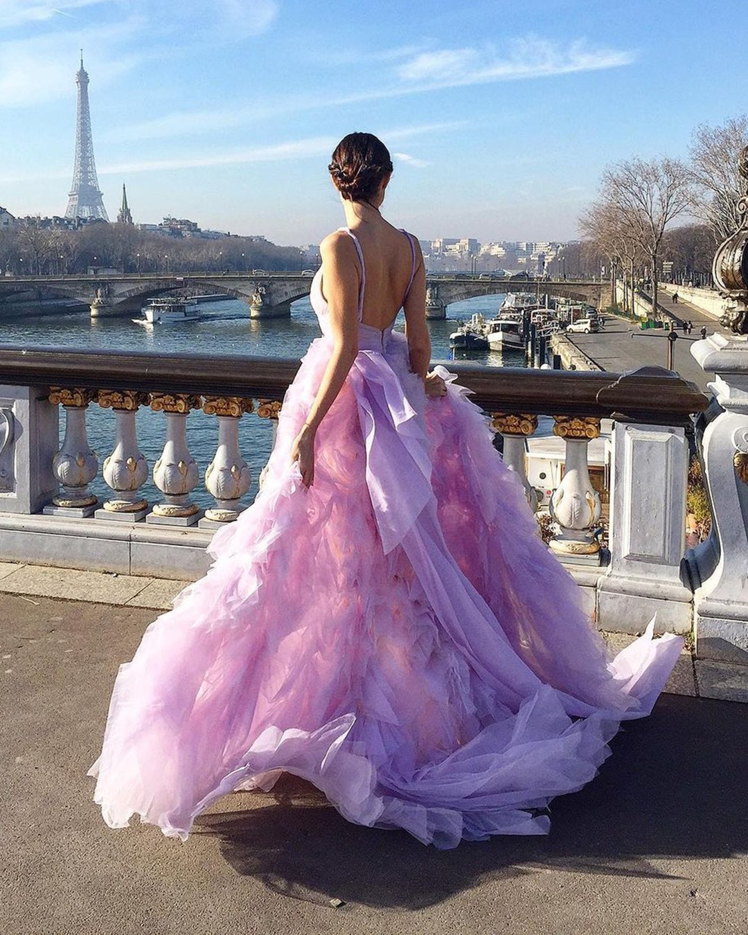 best wedding dresses ball gown purple low back moniquelhuillier