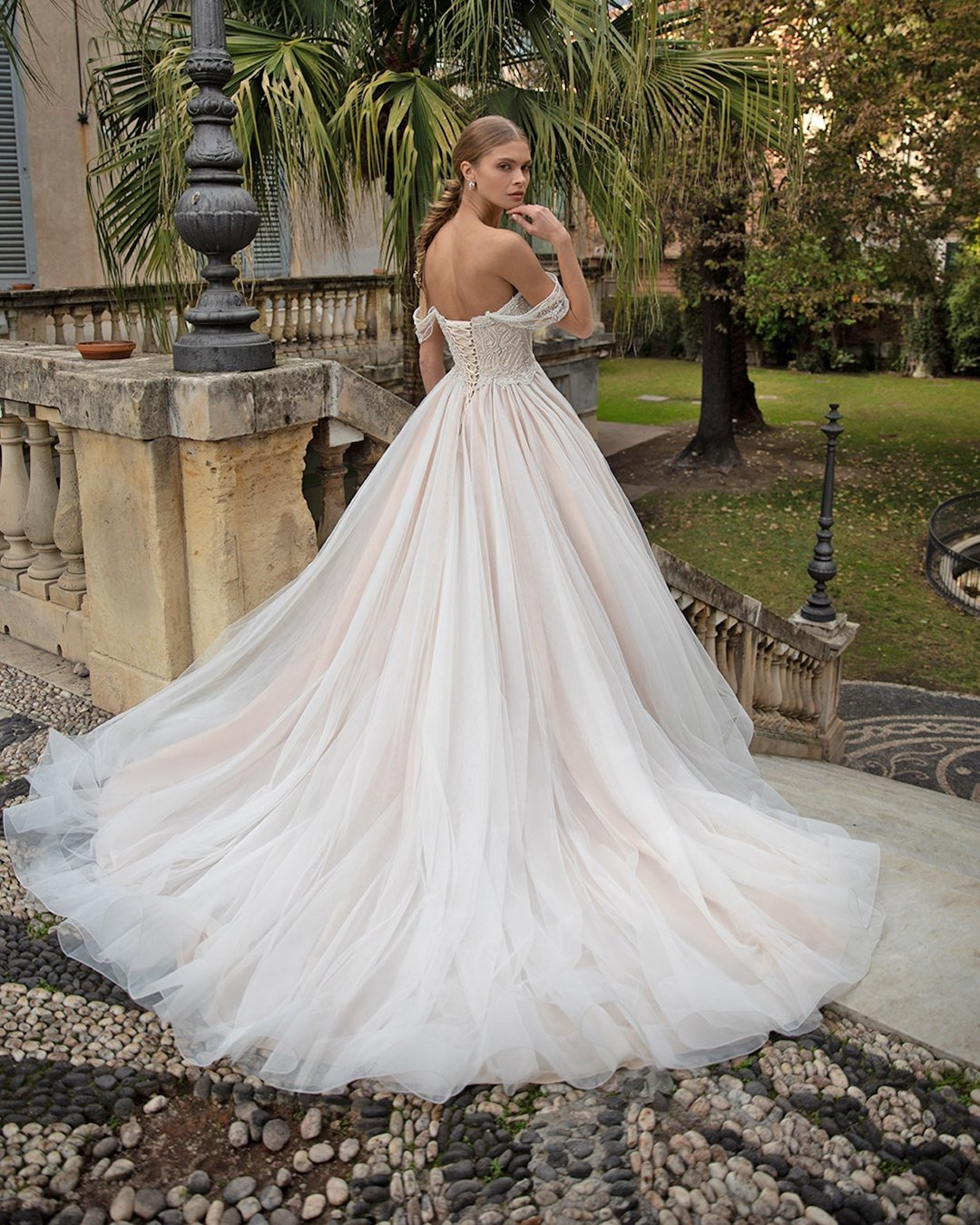 best wedding dresses off the shoulder low back princess navibluebridal