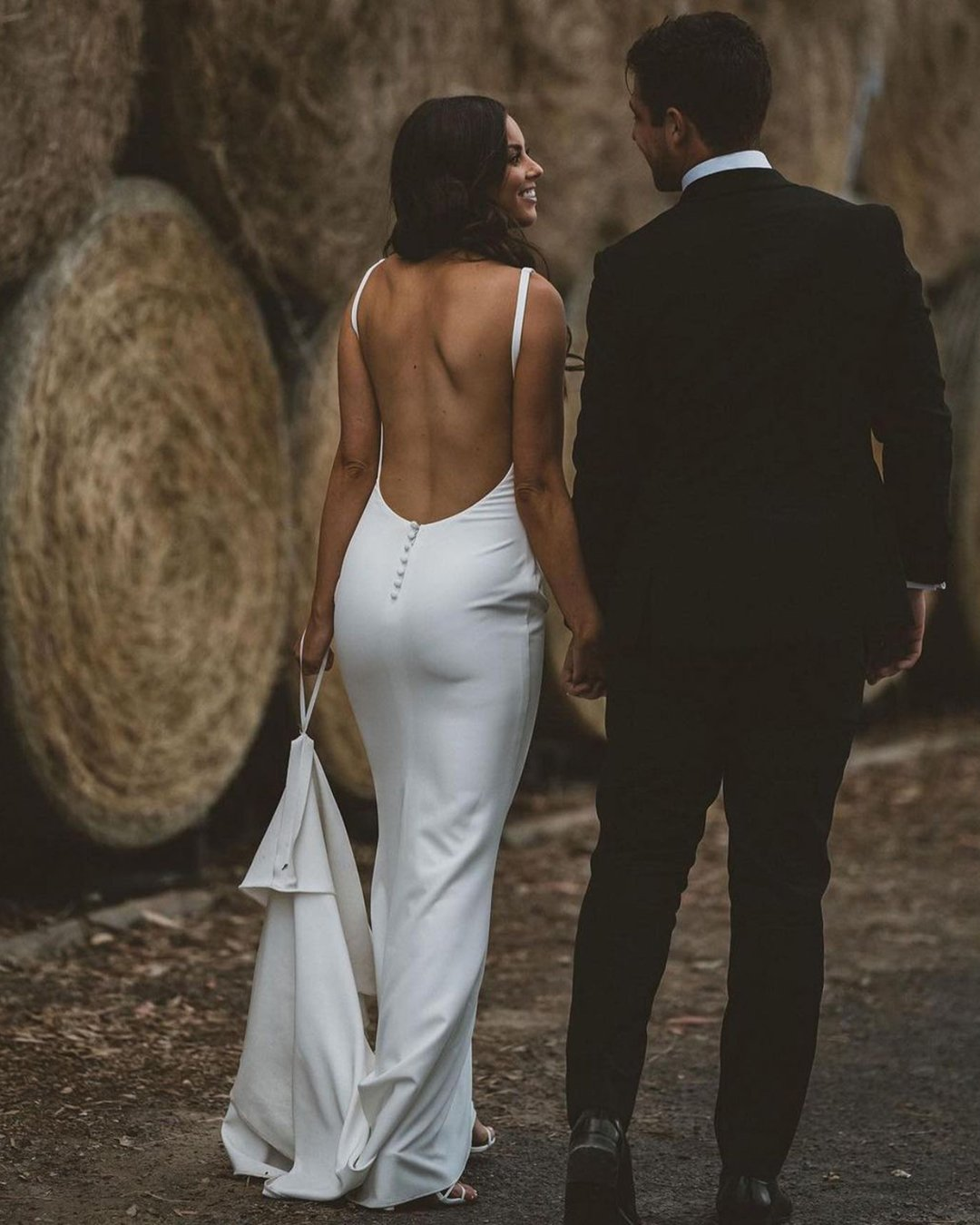 best wedding dresses simple sheath with spaghetti straps beach backless madewithlove