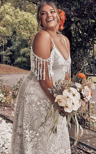 lace plus size wedding dresses grace fe