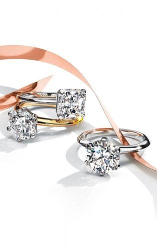 tiffany engagement rings gold diamond rings