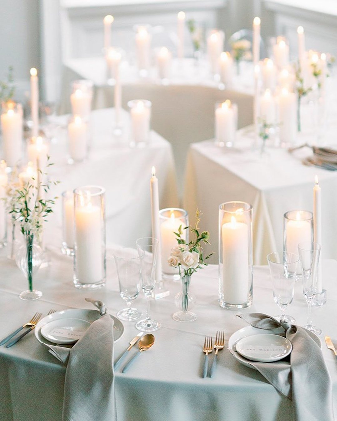 wedding trends candles table decor