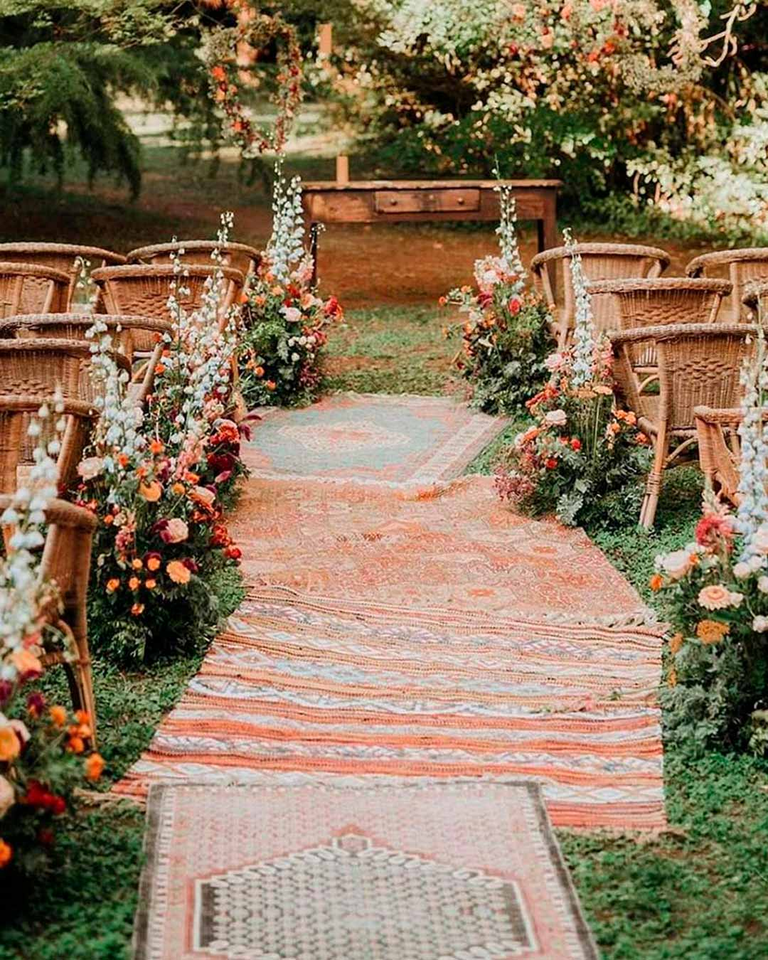 wedding trends garden venue ceremony aisle
