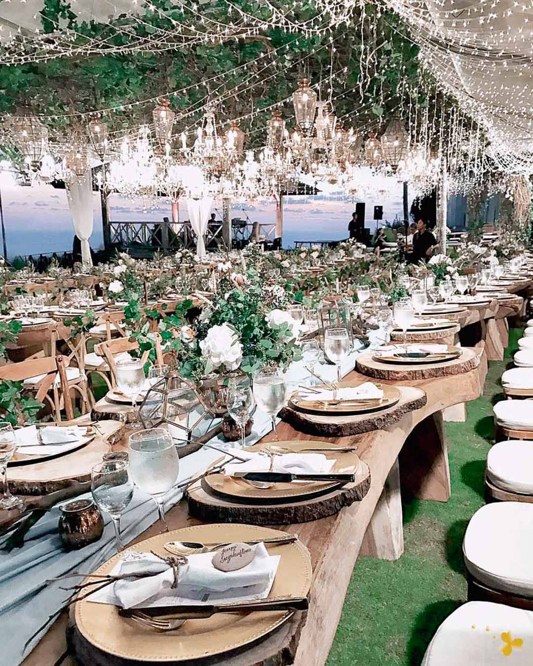 wedding trends table greenery