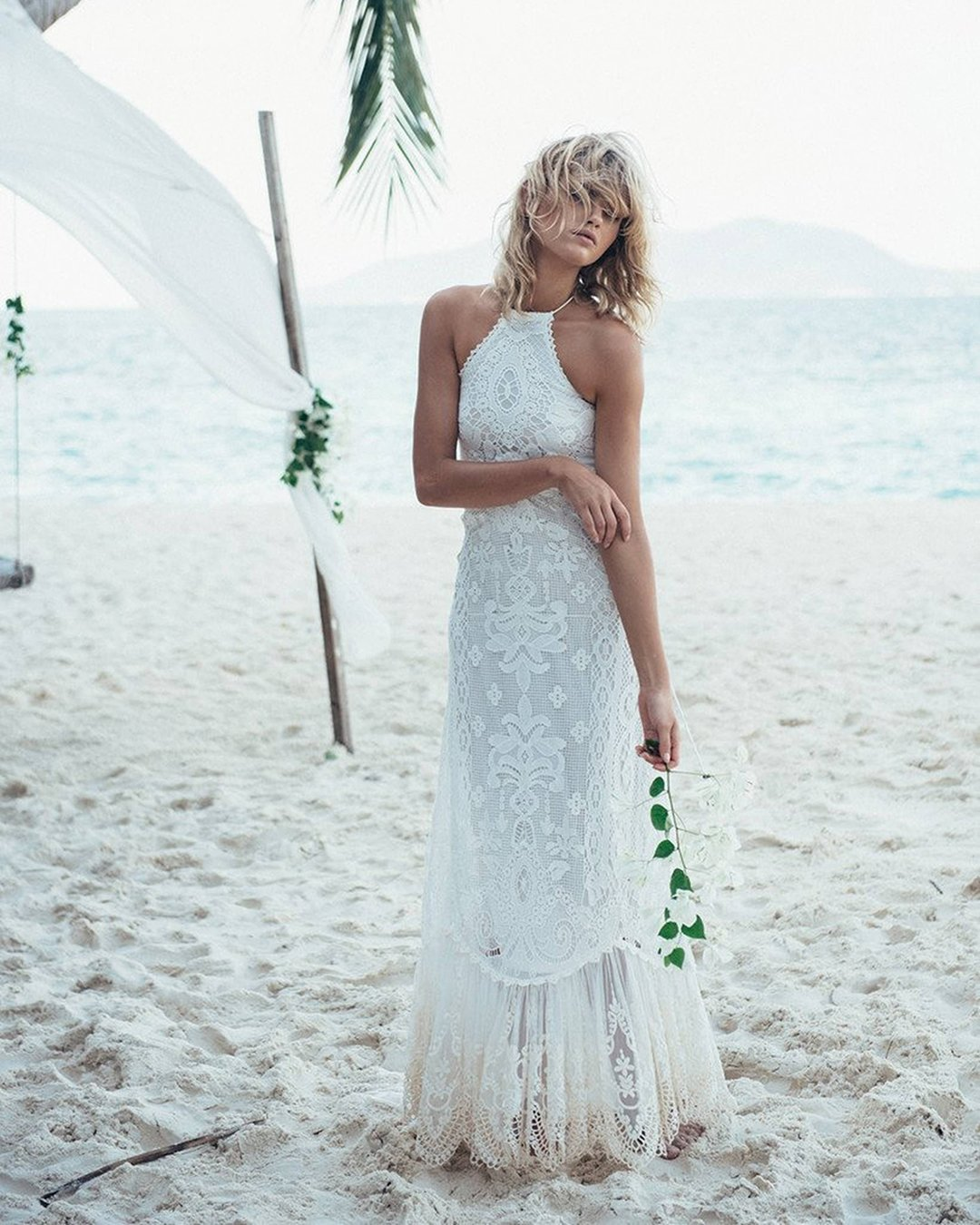 beach wedding dresses sheath bohemian hippie lace johnny photo