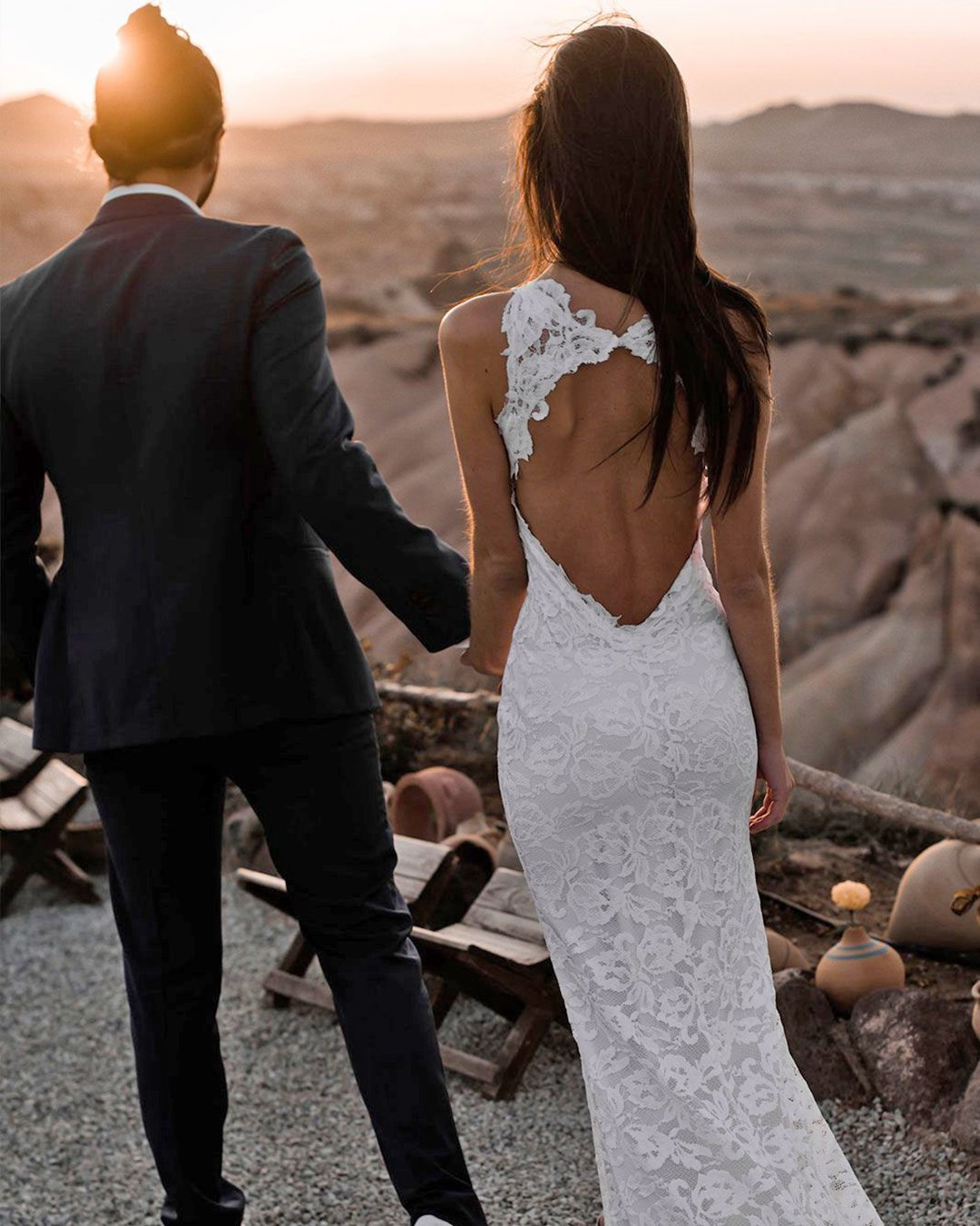 beach wedding dresses sheath open back lace boho grace