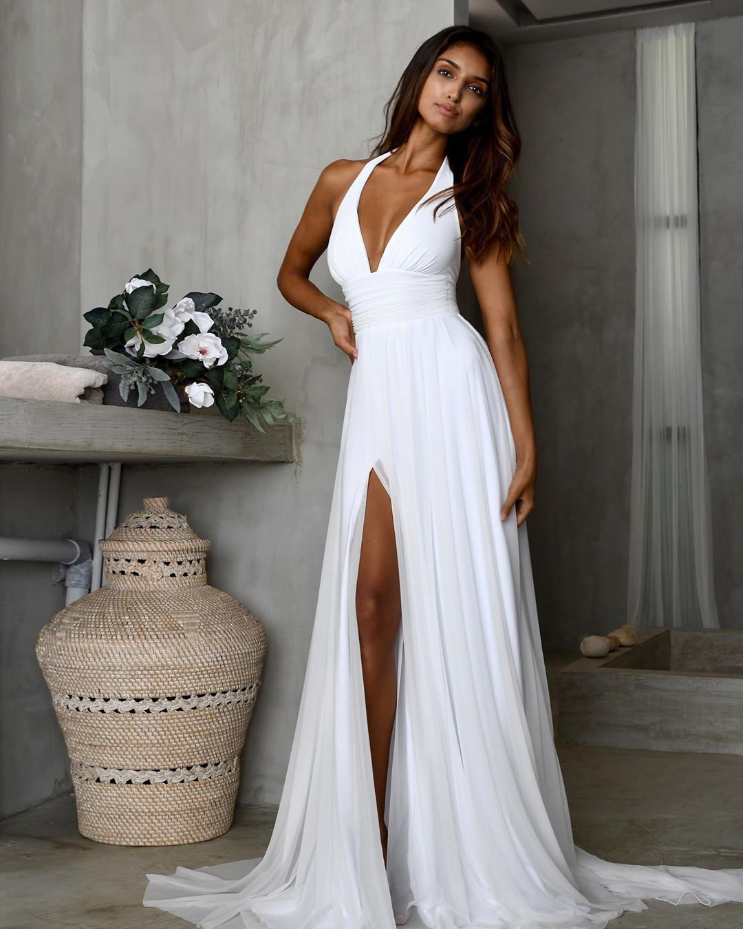 beach wedding dresses simple with spaghetti straps sexy studio minc