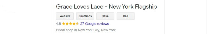 best bridal salon in NYC grace loves lace review