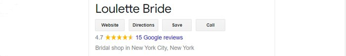 best bridal salon in NYC loulette review