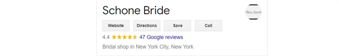 best bridal salon in NYC shone bride lace review