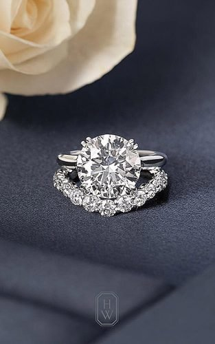 harry winston engagement rings wedding set diamond solitaire round cut main