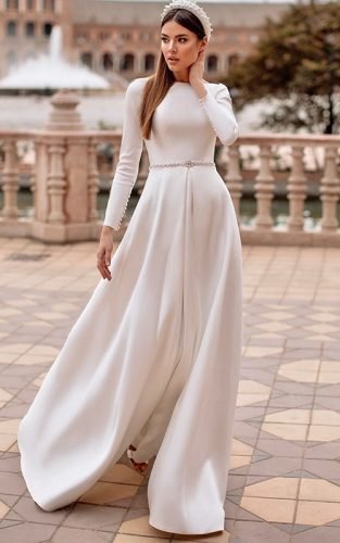 modest wedding dresses featured