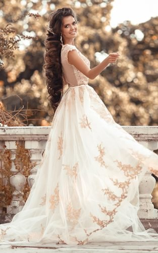 gold wedding gowns fea