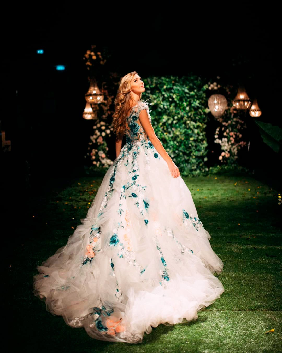 pantone color of the year 2021 floral dress design bride