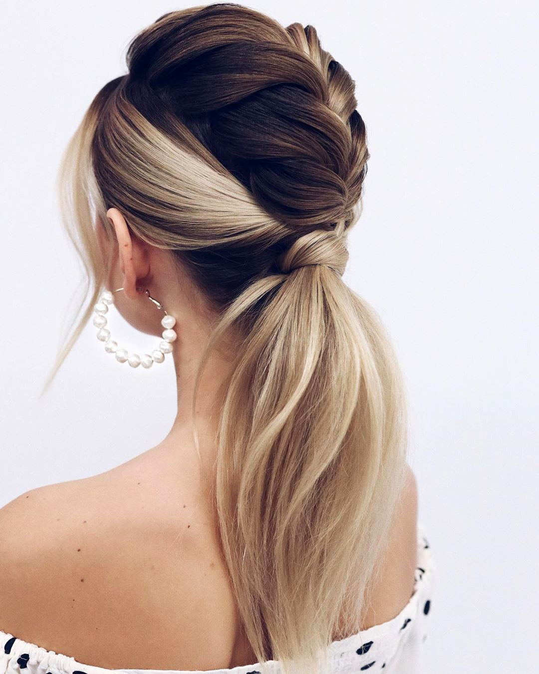 pony tail hairstyles braided ombre on long hair bride tonyastylist