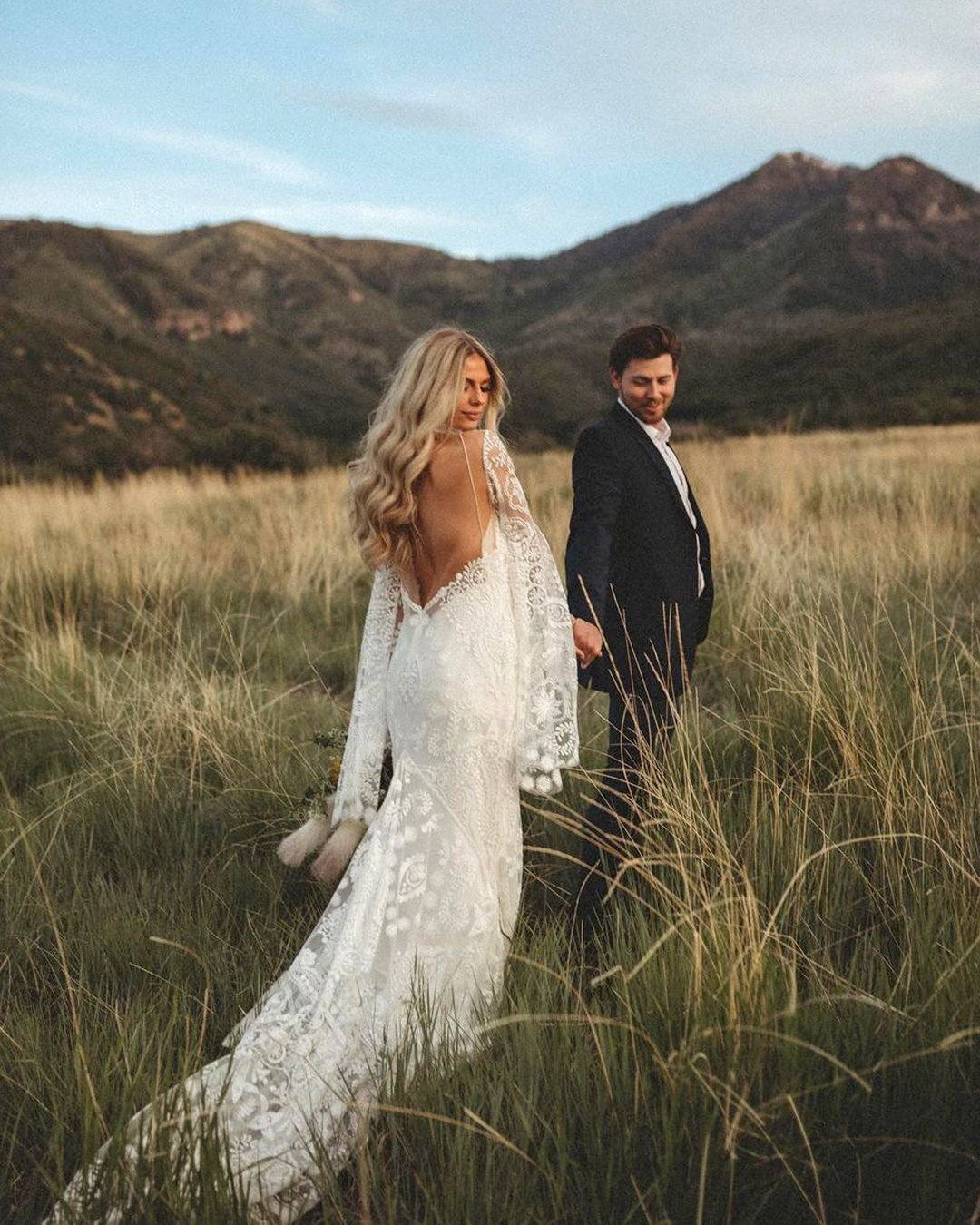 popular instagram posts 2020 bohemian wedding dresses low back jaromandshanessa