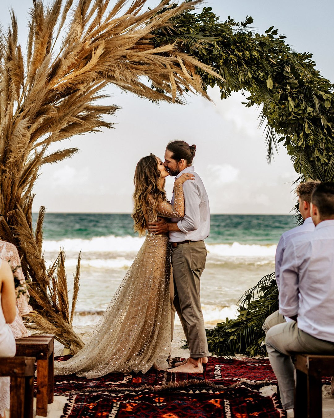 popular instagram posts 2020 boho beach ceremony chris ruth photography