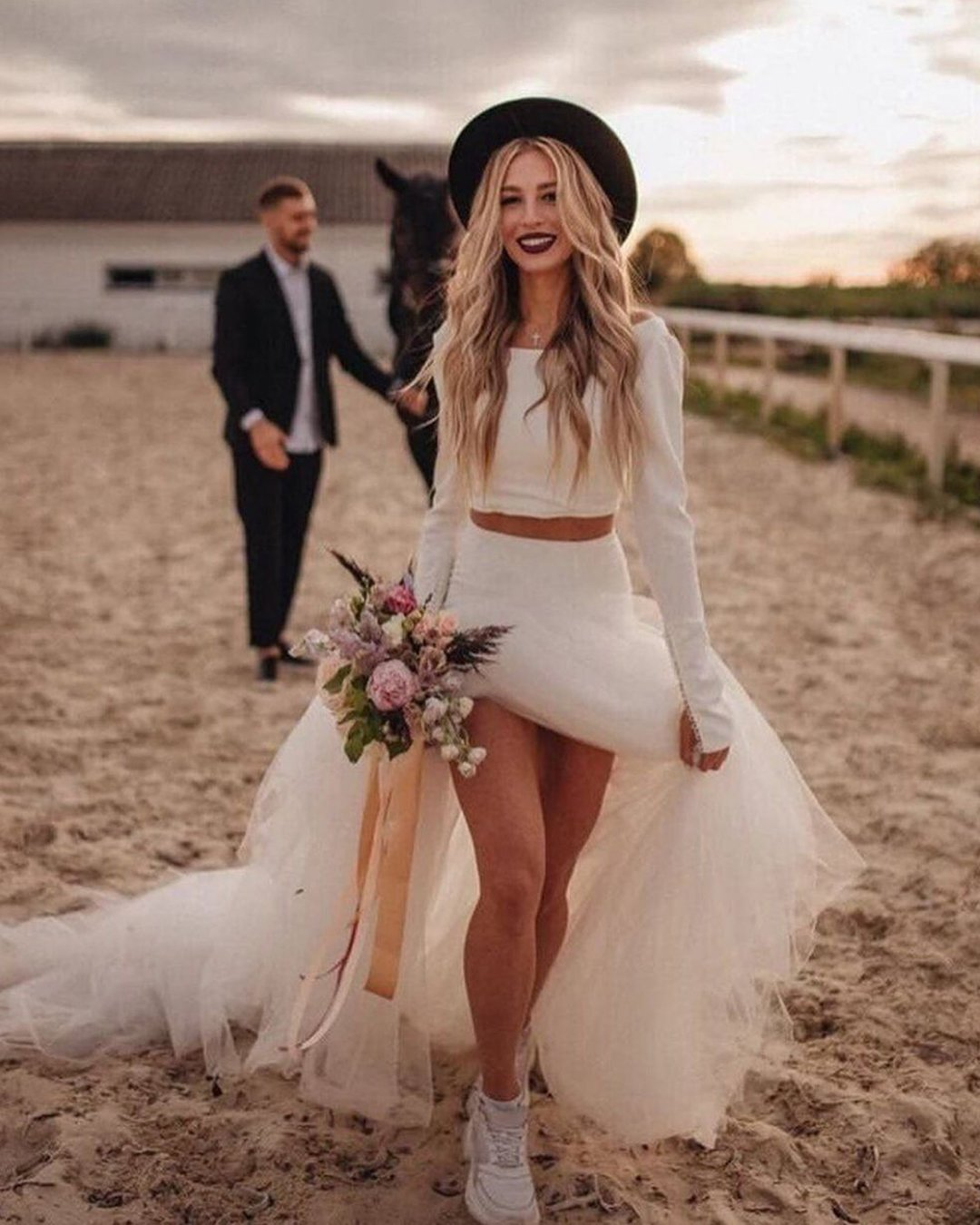 popular instagram posts 2020 simple with long sleeves bohemian wedding dresses qieva fashion