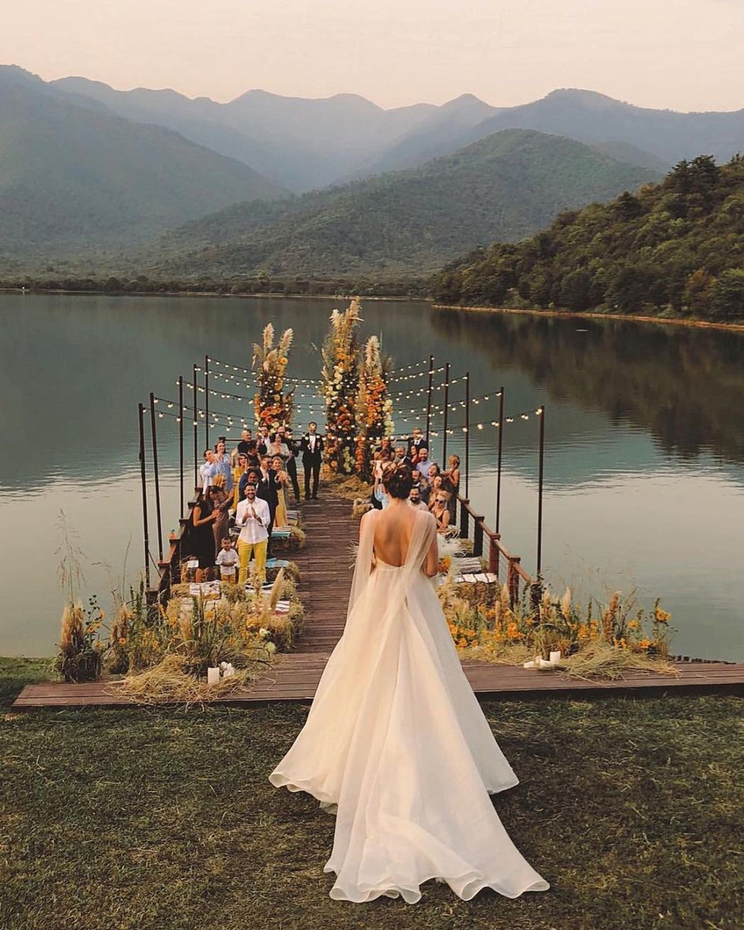 popular instagram posts 2020 venue ceremony with light chupris photo
