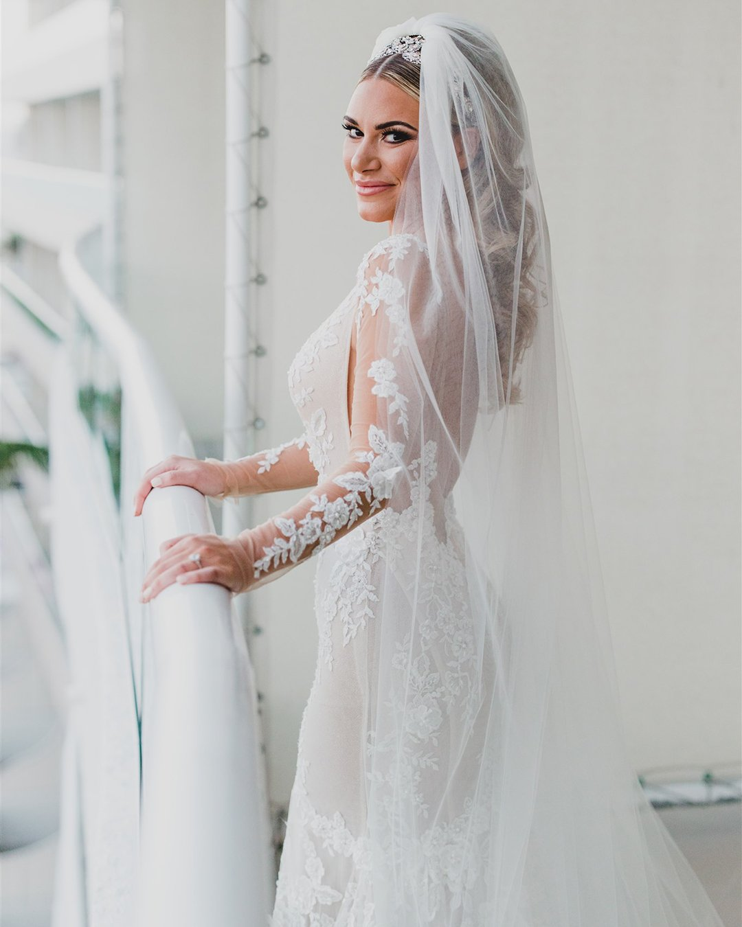real wedding galia lahav dress details
