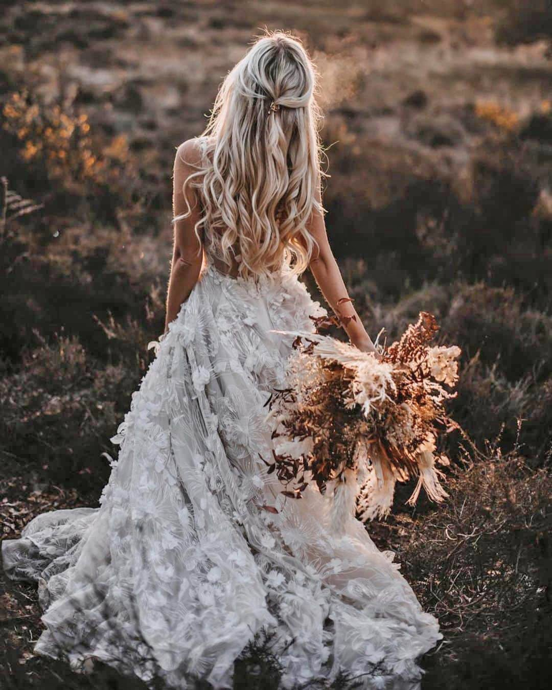 country style wedding dresses a line low back floral appliques galia lahav