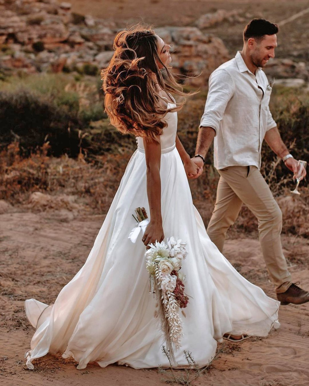 country style wedding dresses a line simple bohemian ayeh kphotography