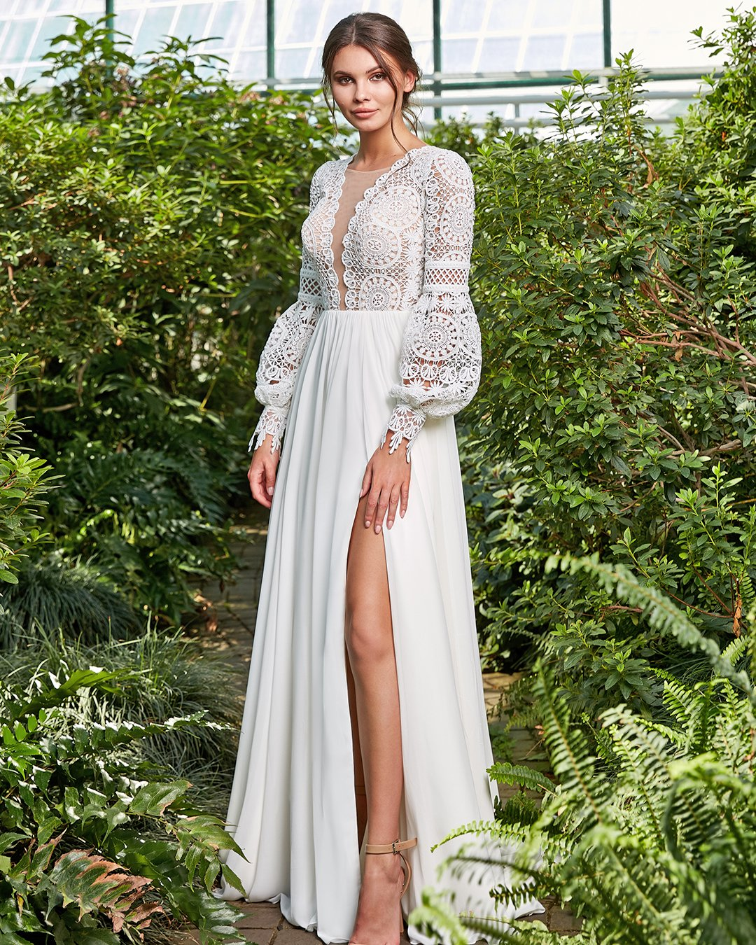 country style wedding dresses a line with long sleeves lace top kira nova