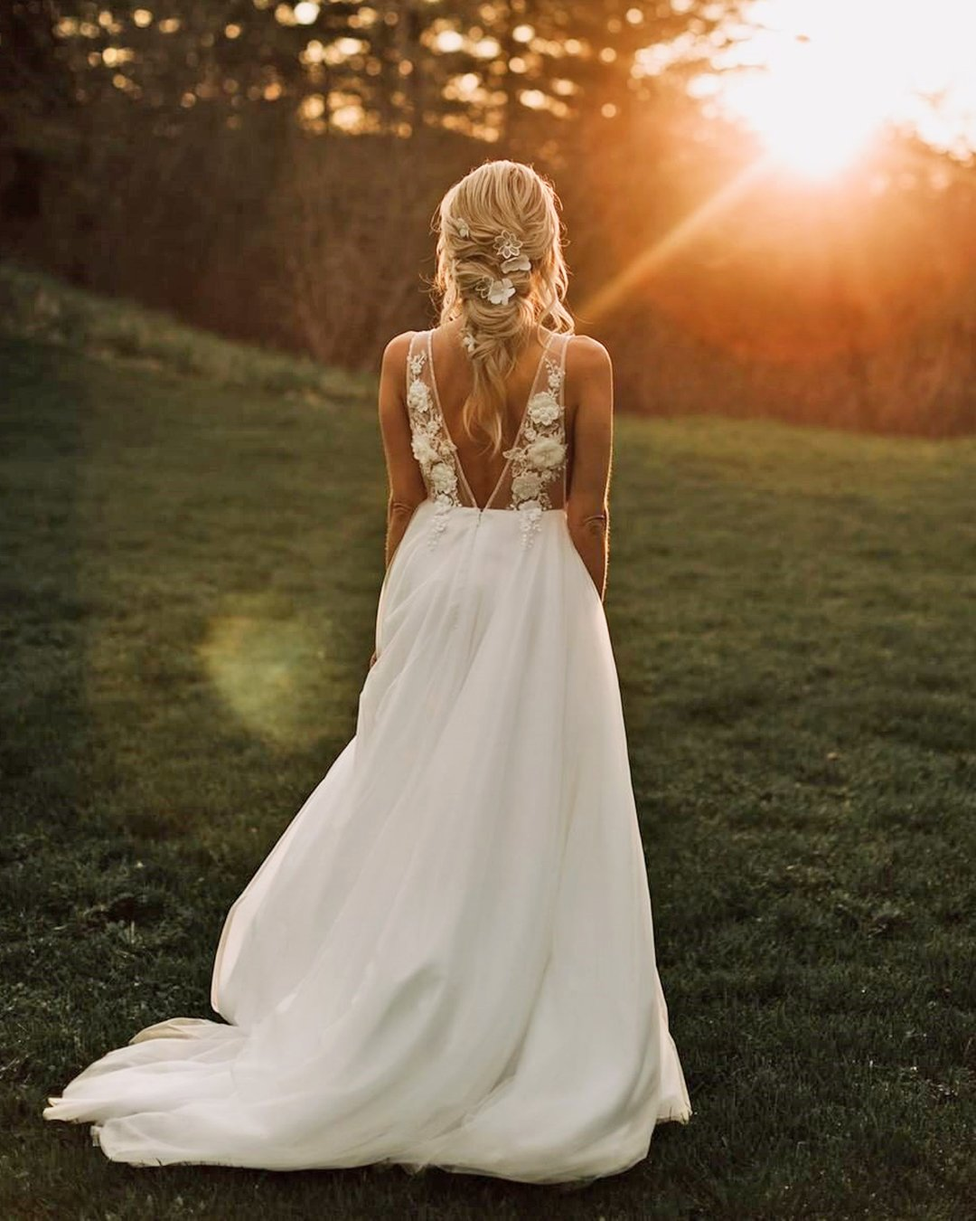 country style wedding dresses aline v back sleveless goddessbynature