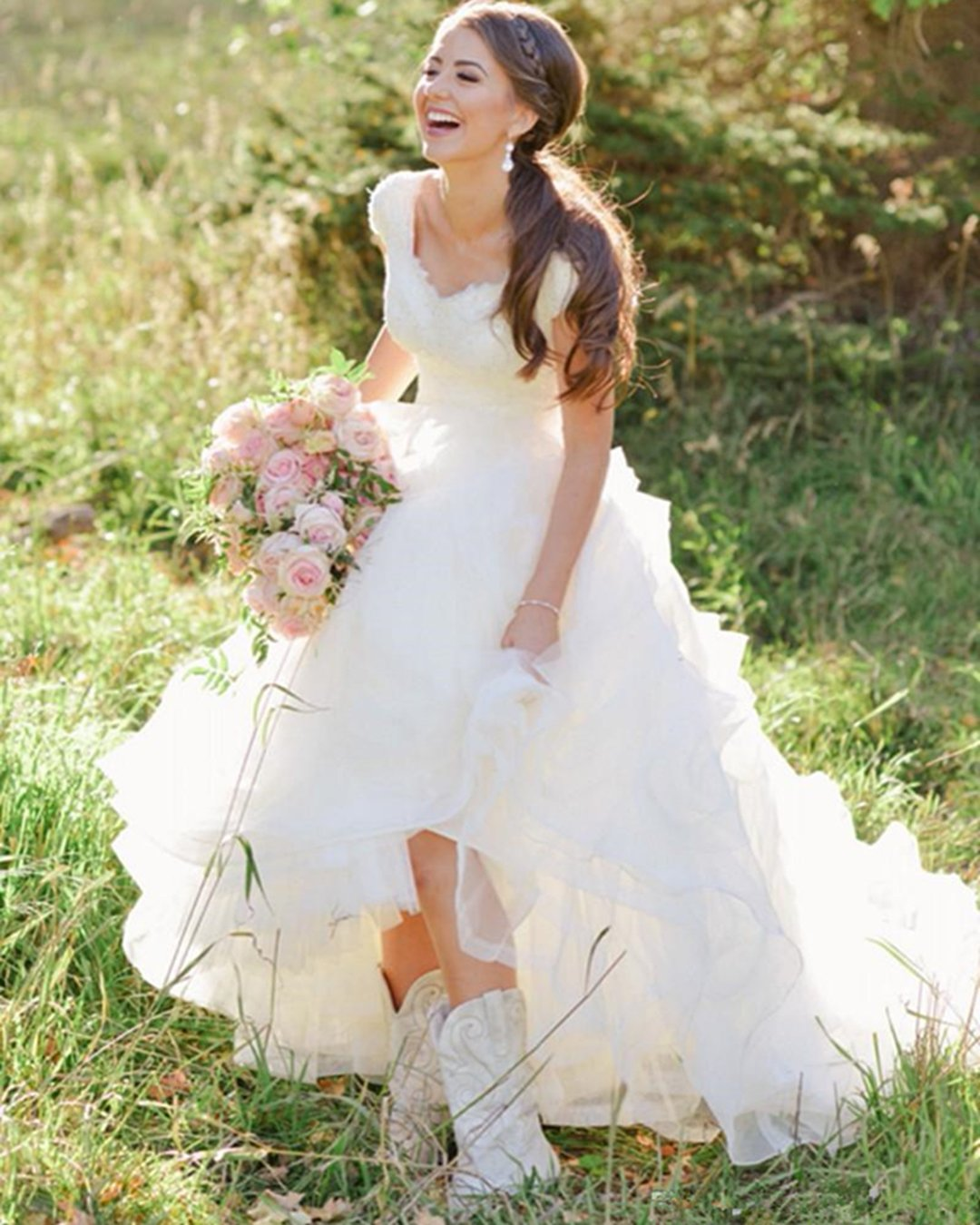 country style wedding dresses princess with boots barn rebekah westover