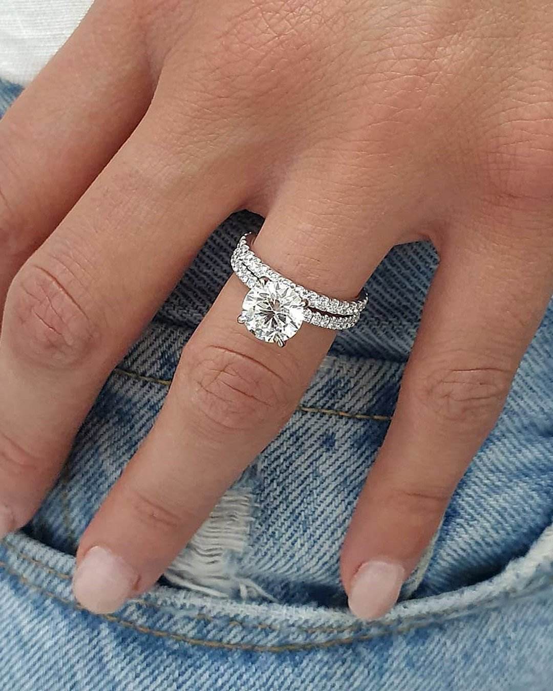 round engagement rings white gold engagement ring classic