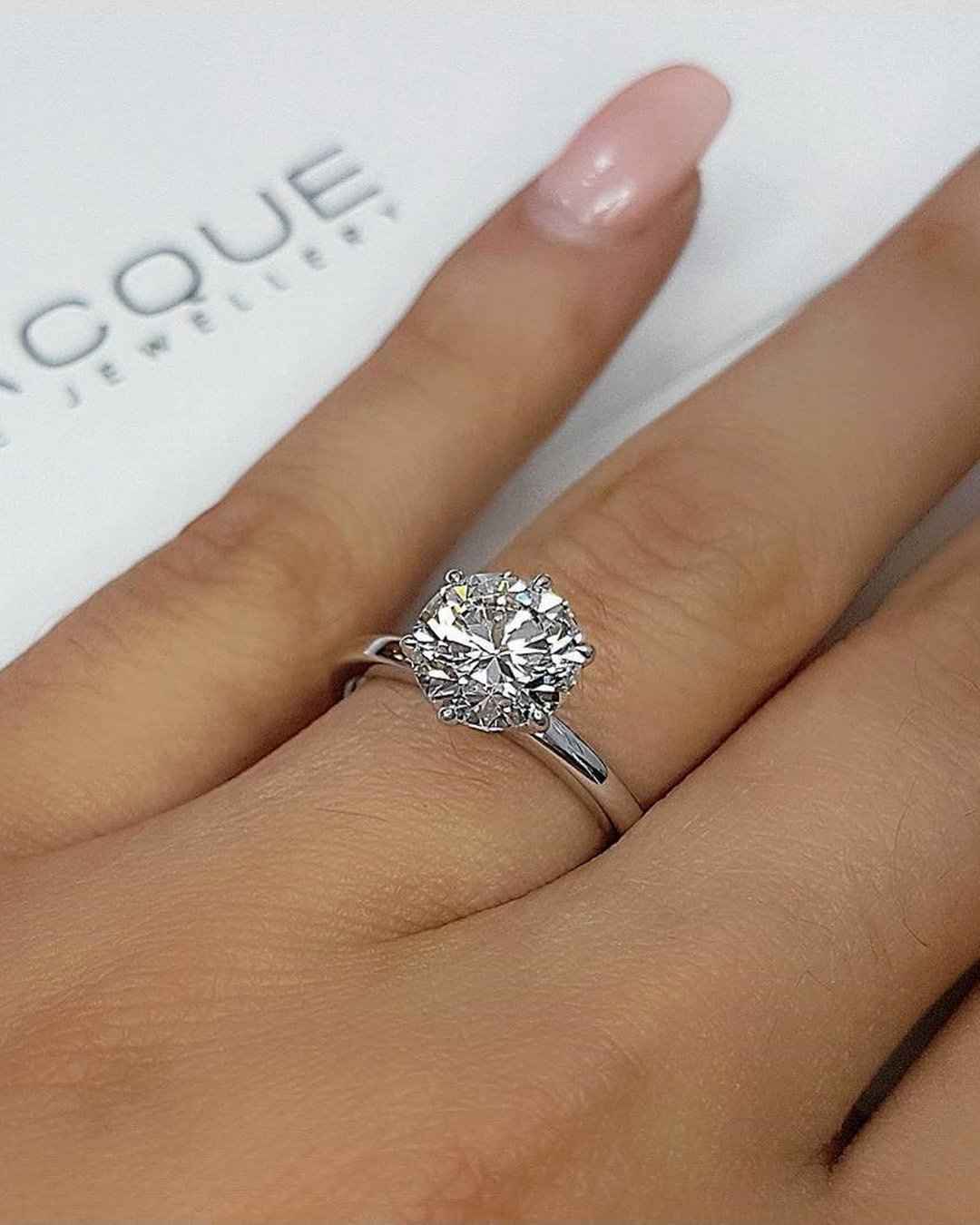 round engagement rings white gold solitaire diamond