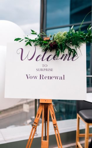 vow renewal ceremony shutter sign