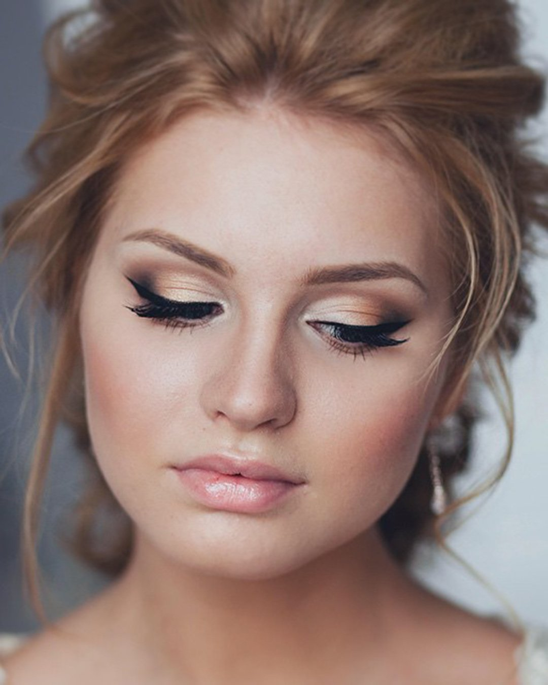 wedding makeup elegant smokey eyes with arrows tonyastylist