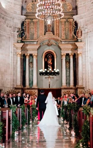 catholic wedding vows couple bride groom church