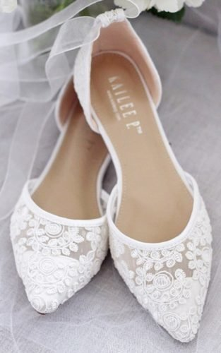 flat wedding shoes featured