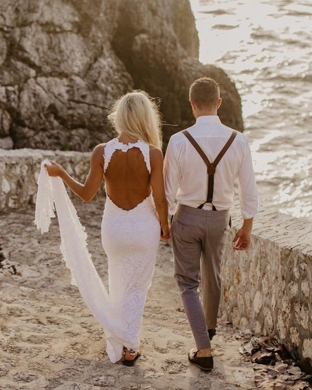 groom suits beach with suspenders grace loves lace