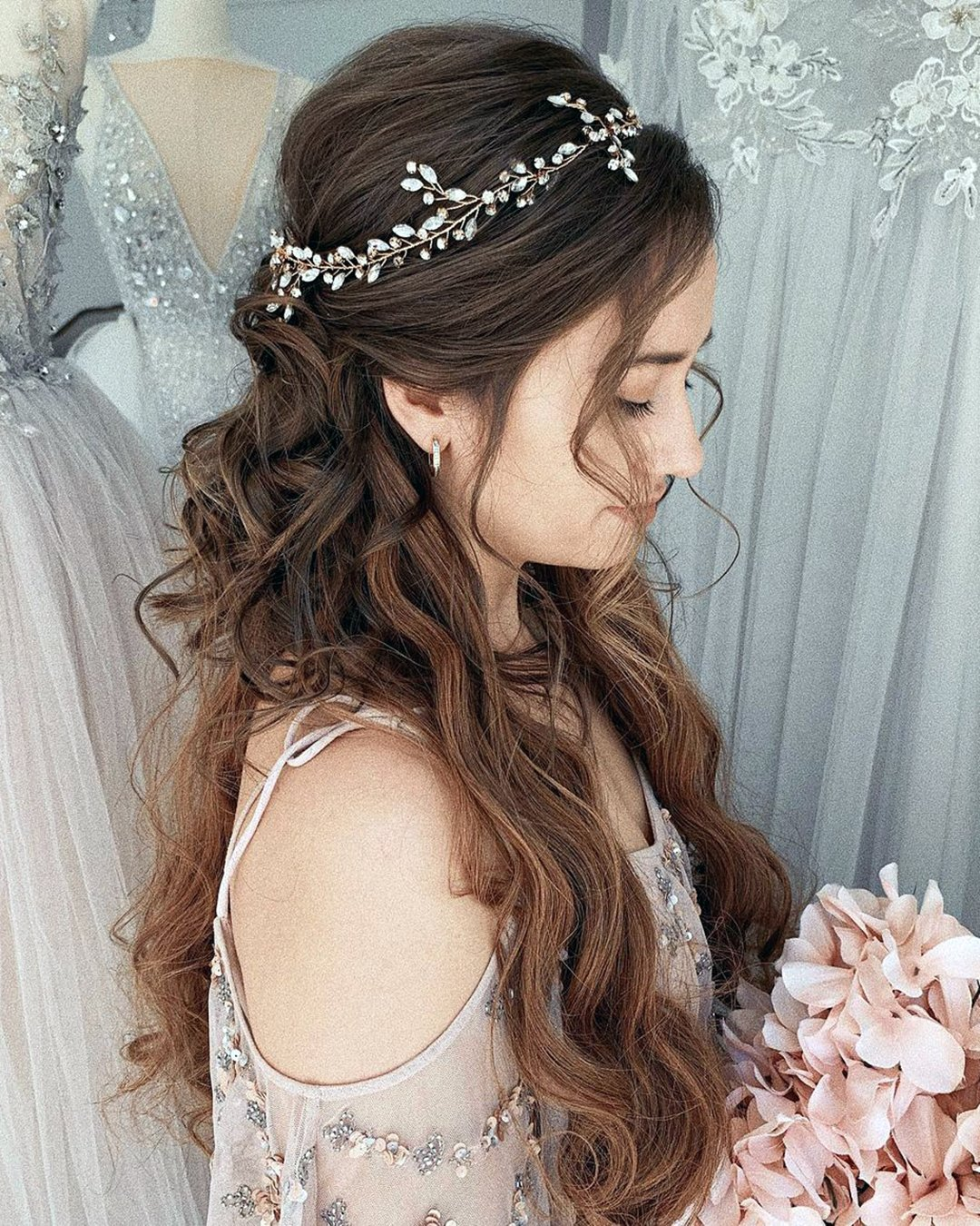 half up half down wedding hairstyles classy on long hair ulyana.aster