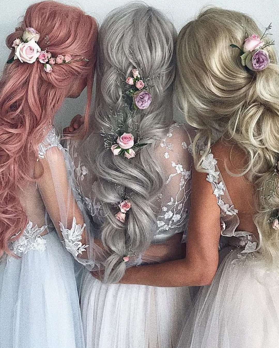 half up half down wedding hairstyles for bridesmaids ulyana.aster