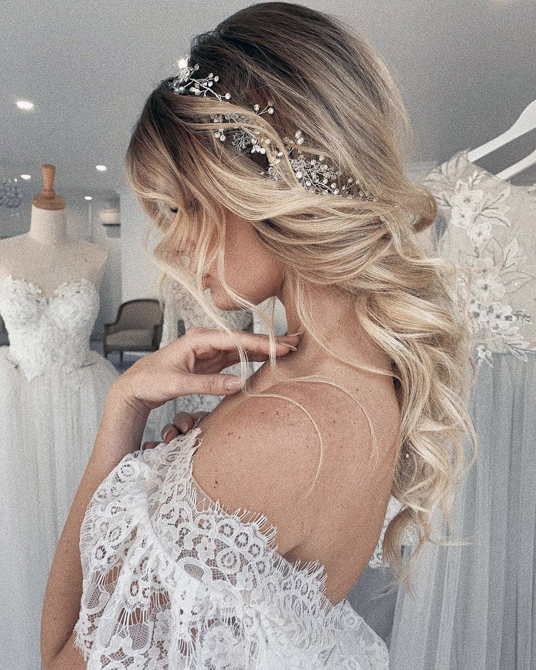 half up half down wedding hairstyles ombre halo ulyana.aster