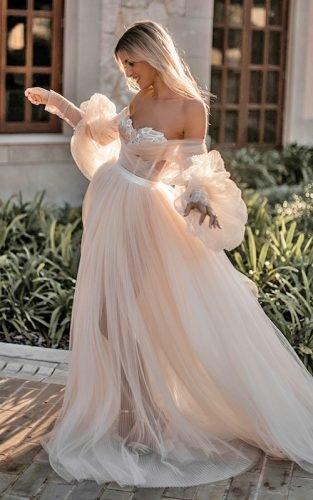 off the shoulder wedding dresses featured galia
