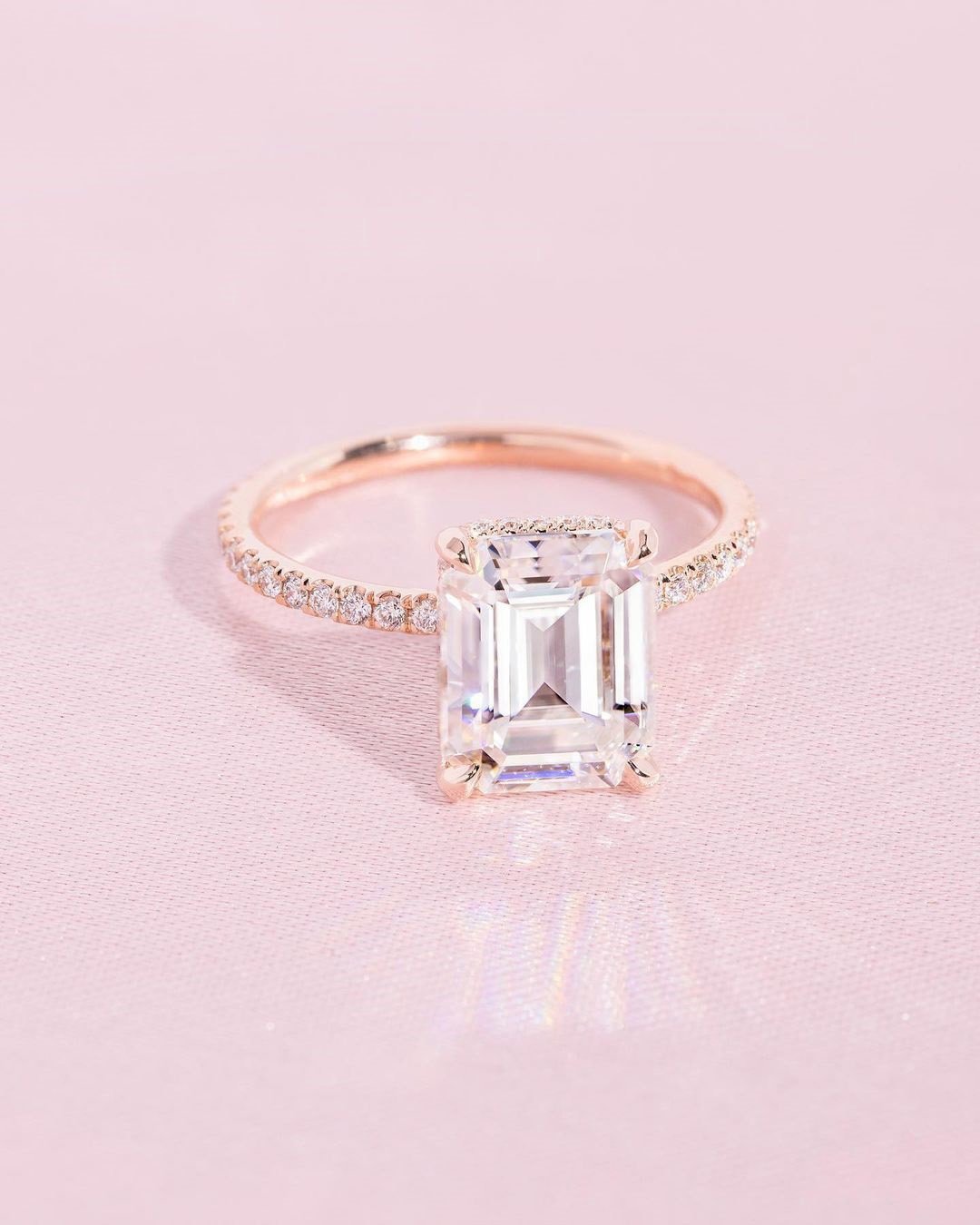 rose gold engagement rings diamond engagement ring solitaire