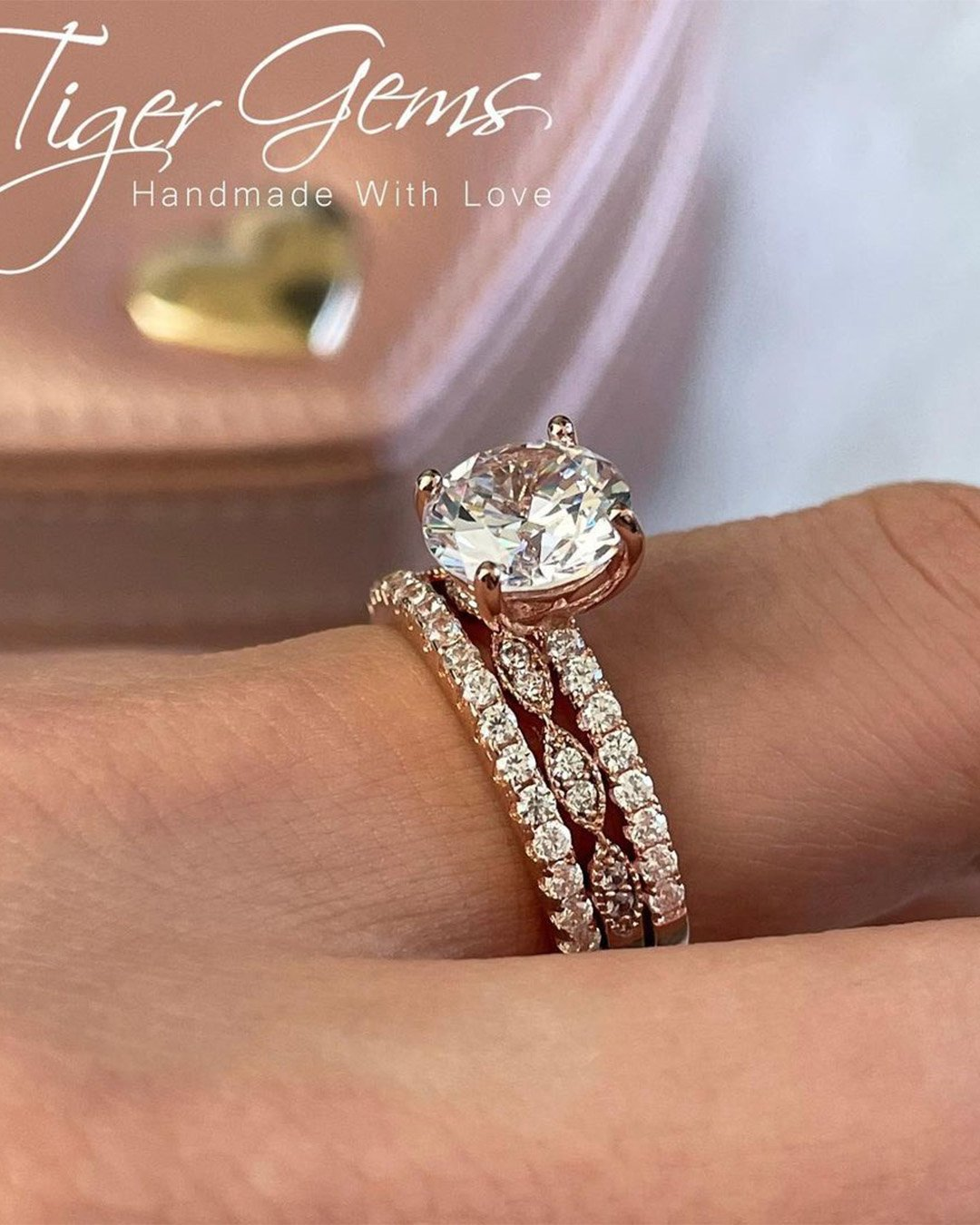 rose gold engagement rings diamond engagement ring