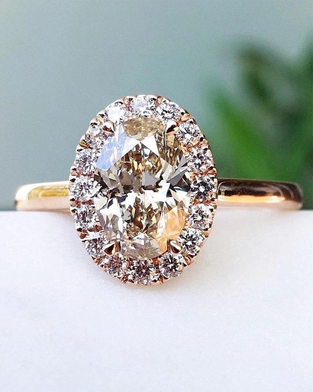 rose gold engagement rings oval engagement ring