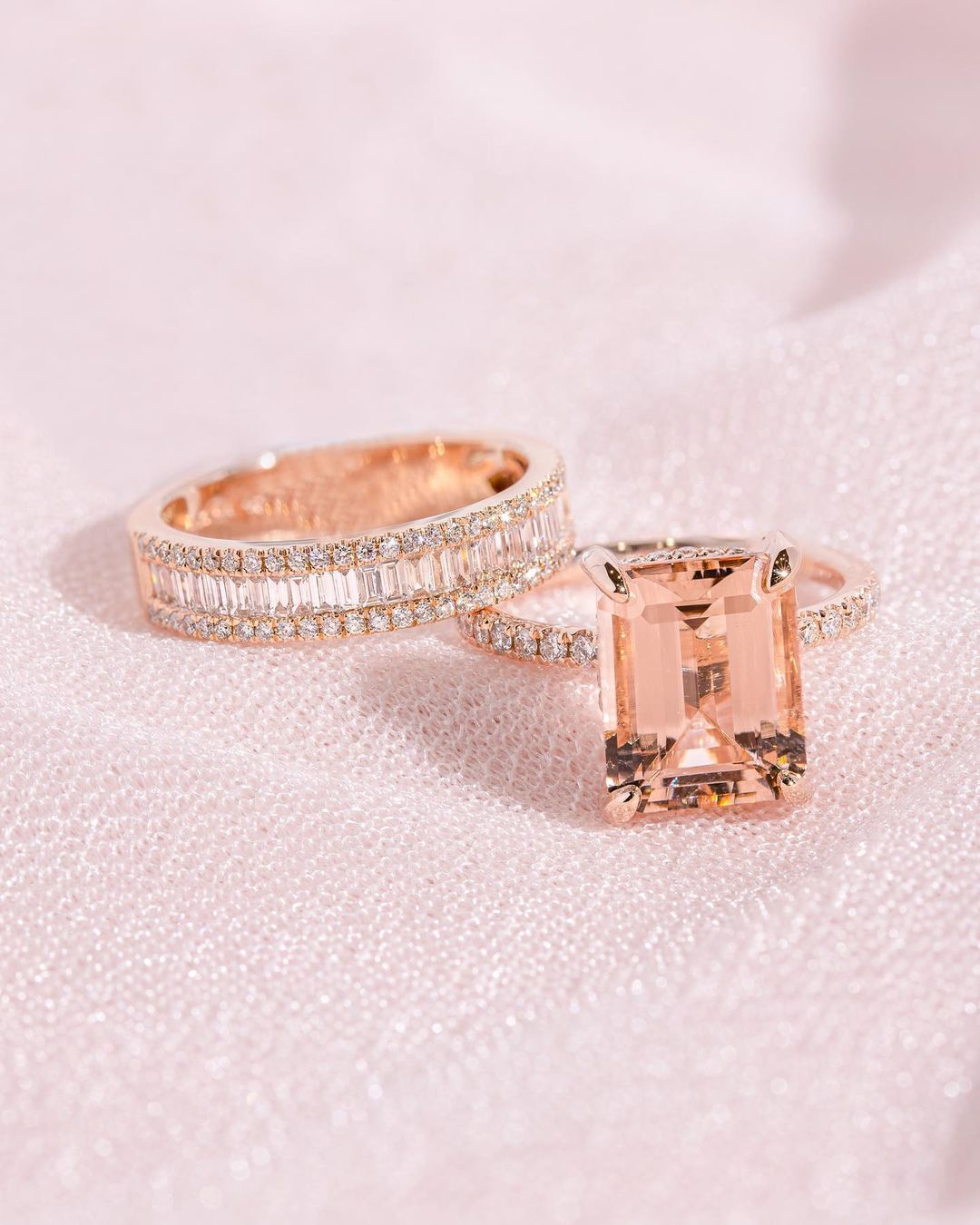 rose gold engagement rings unique engagement rings bridal sets