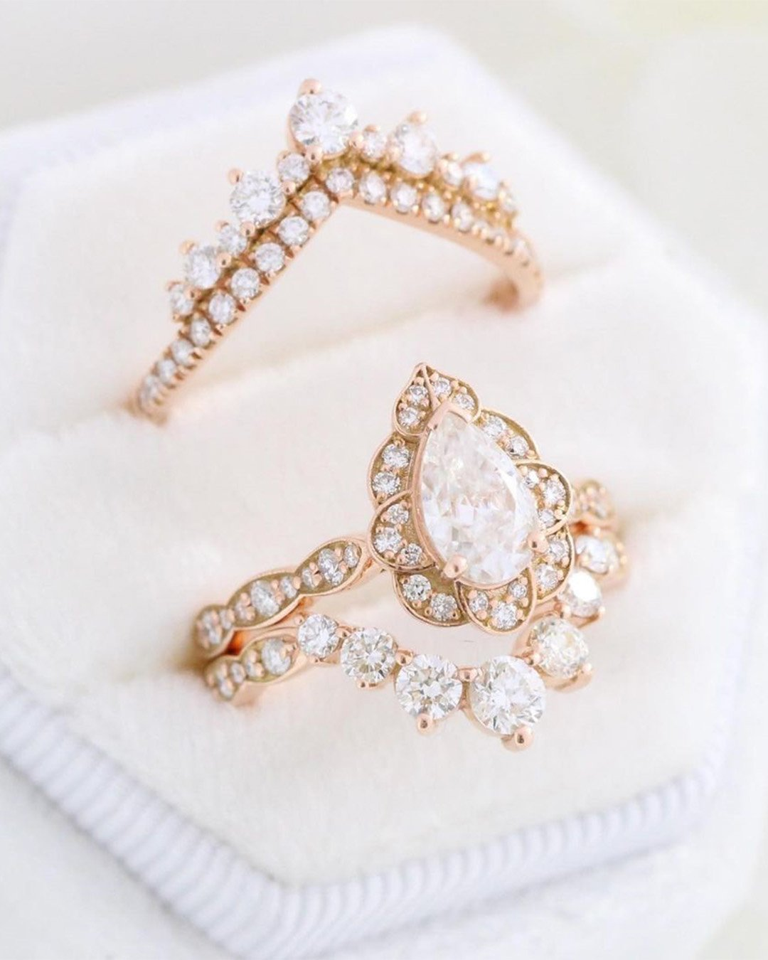 rose gold engagement rings vintage engagement rings
